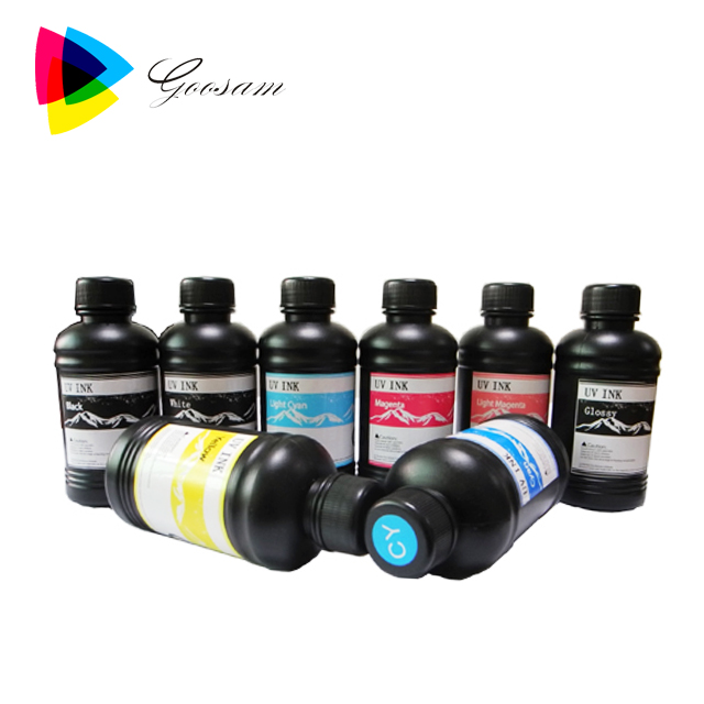 Wholesale cheap price UV ink for Mimaki JFX200 -2513 wide format flatbed UV printer for smart phone case priting