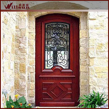 China Manufacturer Lowes Wrought Iron Vintage Entry Door