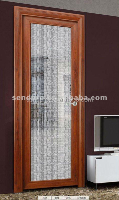 Interieur obscure glas aluminium badkamer deur deuren for Puertas decorativas para interiores