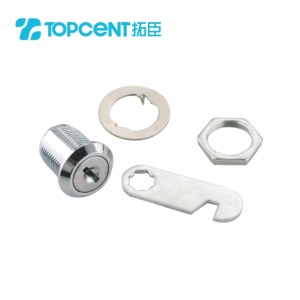 Chrome plated desk drawer locks for office furniture