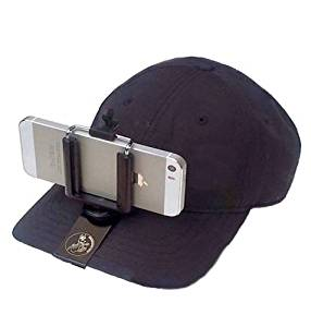 Streamaroo Universal Hands-free Smartphone Hat Mount. Slides onto a Ballcap, No Straps on Your Head. The Simple, Elegant Solution to Hands-free Mobile Video!