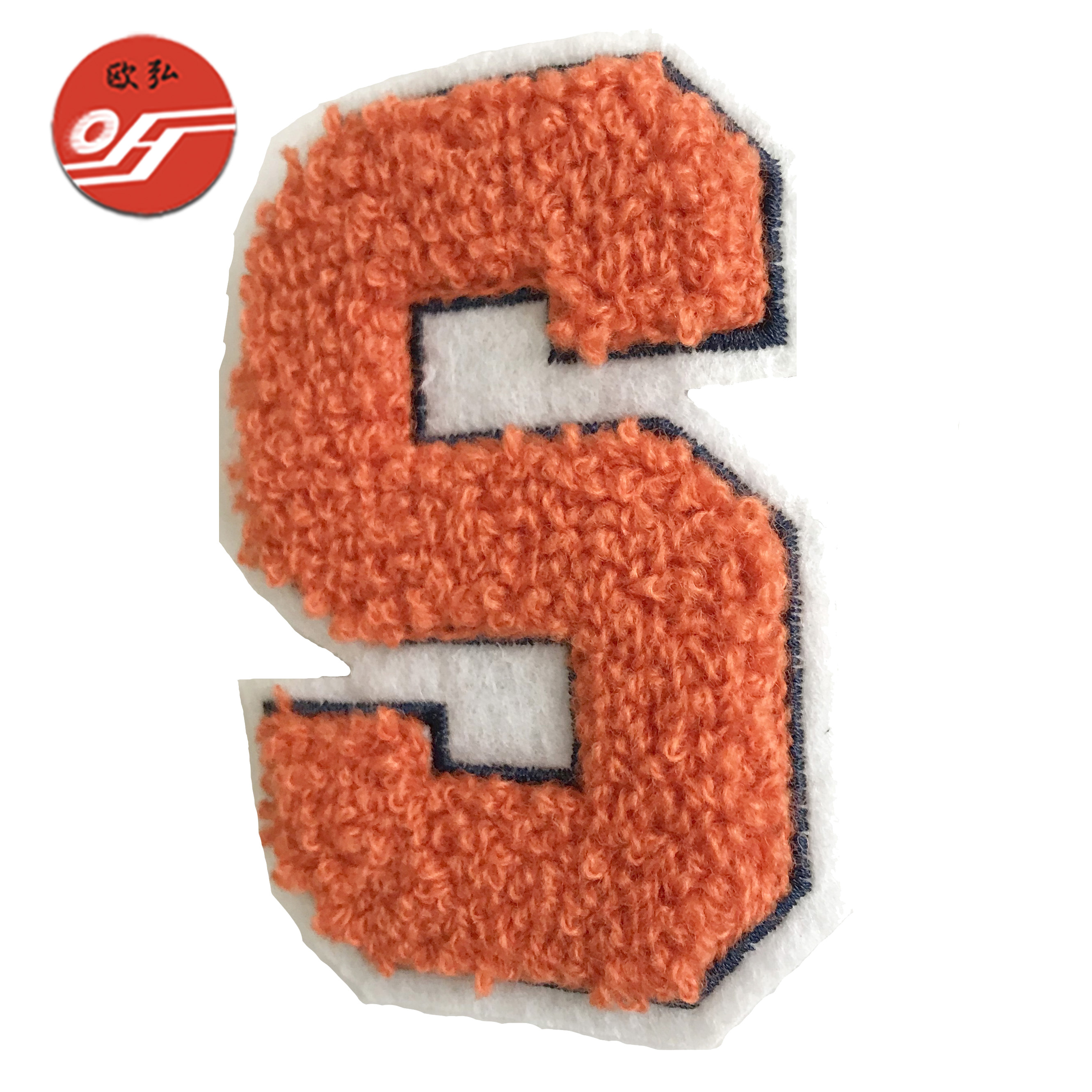 Durable Customized Hot Fix Felt Fabric Embroidery Badges for Clothing