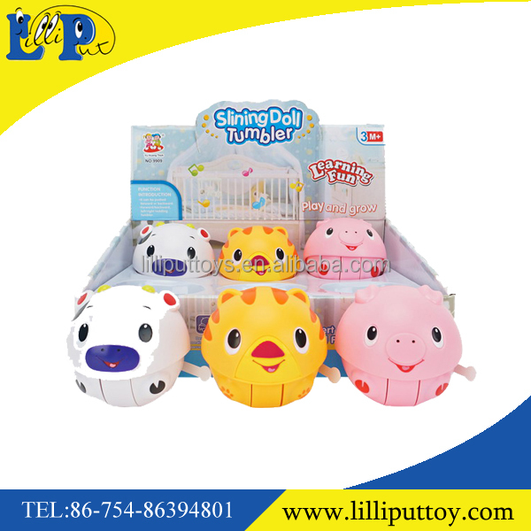 Popular slining doll cut musical tumbler set toy with display box