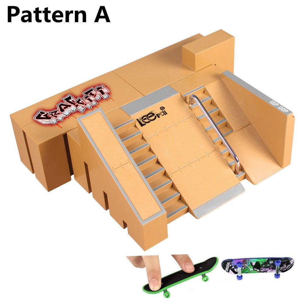 40cd96f151b3 Get Quotations · Skatepark Ramps, 5PCS Fingerboard Skate Park Kit for Tech  Deck Circuit Board Mini DIY Finger