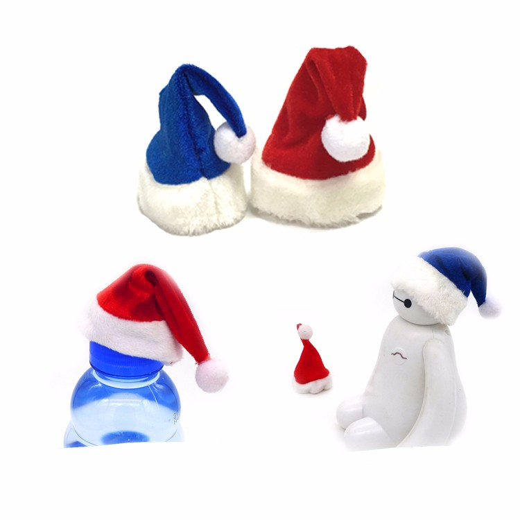Promotional red blue christmas gift hat