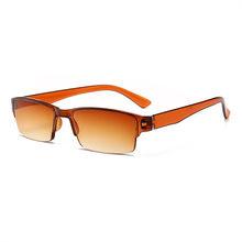 XojoX, брендовые очки для чтения, для мужчин и женщин, прогрессивные очки, полуоправа, диоптрий + 1,0, 1,5, 2,0, 2,5, 3,0, 3,5, очки для дальнозоркости(Китай)