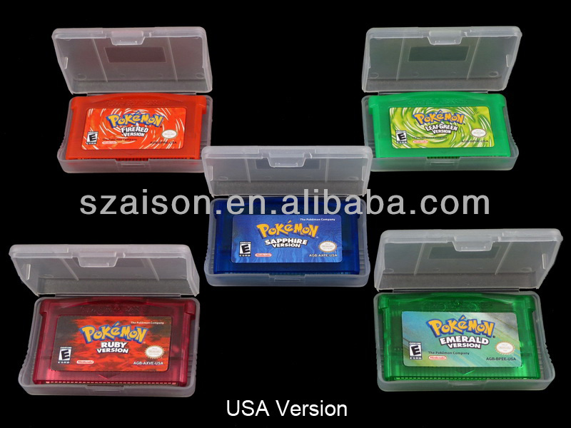 Hot Selling Pokemon Video Games for GBA Game Consoles with Excellent Quality:Pokemon Sapphire Version