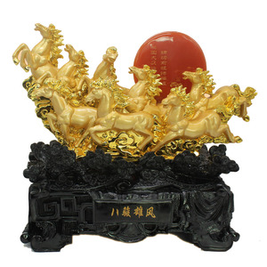 Chinese Feng shui resin horse statue for home decorations and gifts