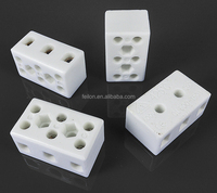 3 way high temperature ceramic material terminal block 15A 3 pin feed through High frequency wire connector