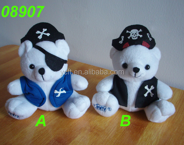 08907 plush and stuffed Pirate teddy bear toy