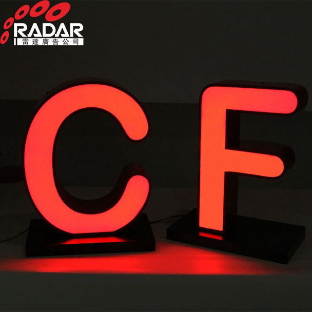 Rooftop LED Lighted Rimless Letter Sign Metal Alphabet luminous Sign giant love letters