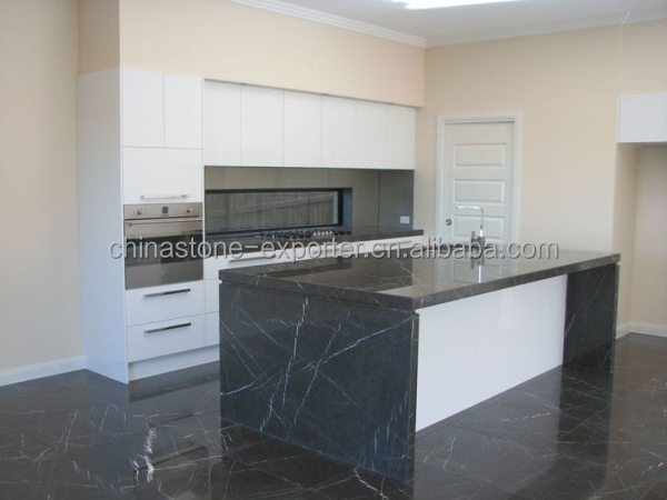 Grey Marquina Fancy Marble Floors Kitchen Island Top Iran Products Pietra
