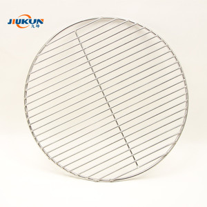 Food grade stainless steel round weld bbq wire mesh stainless steel bbq grill net
