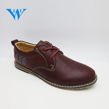 Trendy and comfortable boys formal dress shoes lace up mens brown pu  leather shoes for sale ae1448123092