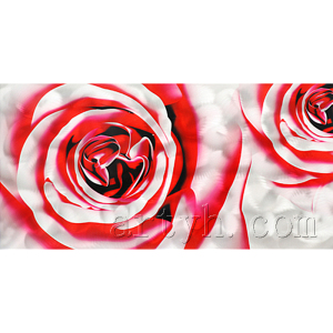 Wholesale modern handmade red rose flower metal craft painting beautiful pictures of roses images