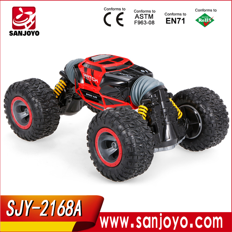 SJY-2168A Amphibious Vehicle Double-Sided Stunt Car 1/18 Scale 360 degree Rotate <strong>Model</strong> 2.4Ghz 4WD Remote Control Car