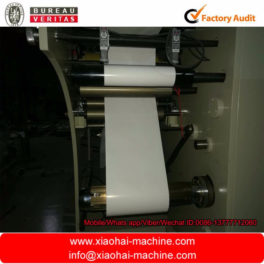 HAS VIDEO No Computerized and New Condition Rotary die cutting-slitting machine with turret rewinder