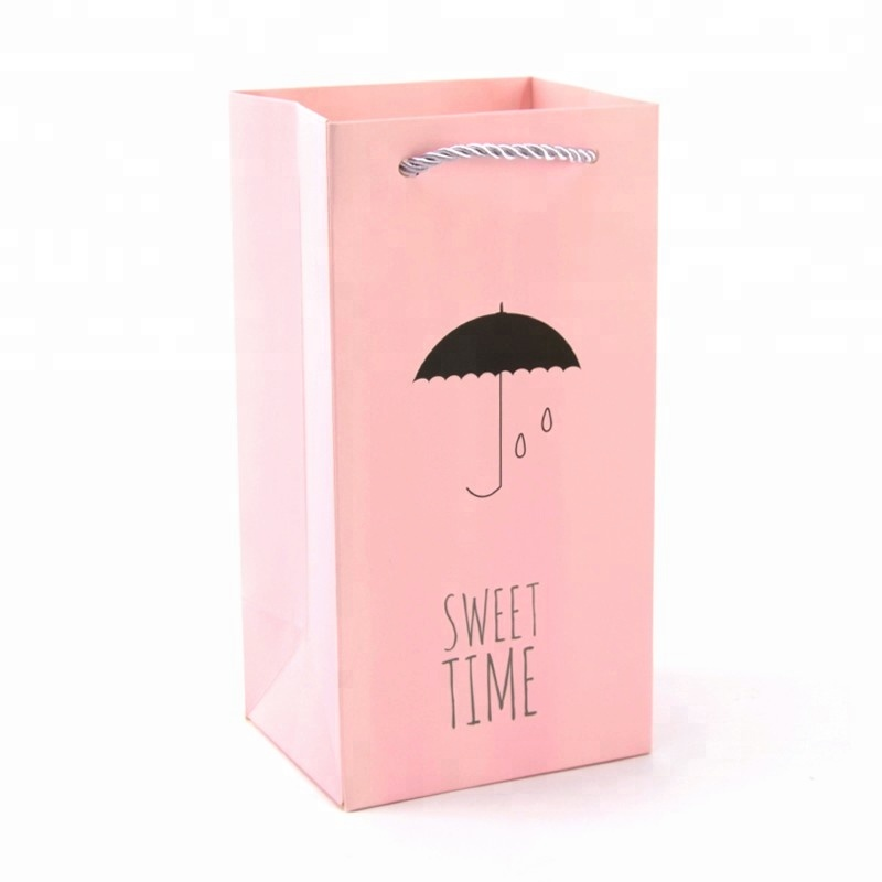 Happy Birthday Christmas Goody Gift Bags Wholesale With Colorful Handle