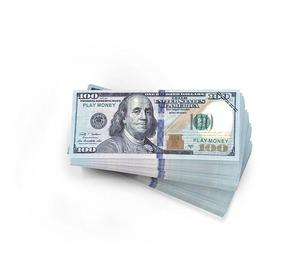 Realistic double sided prop money