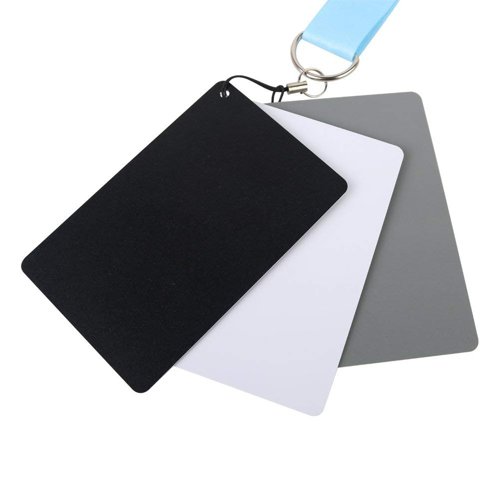 White Balance Gray Card 18% Grey Card - Fomito FMTHKS Waterproof Custom Calibration Camera Checker Cards, Use for Video DSLR Digital Photography and Film Size 3.3 x 2.1 inches (8.5 x 5.4cm)