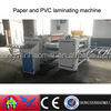 Double side pvc film MDF sticking machine