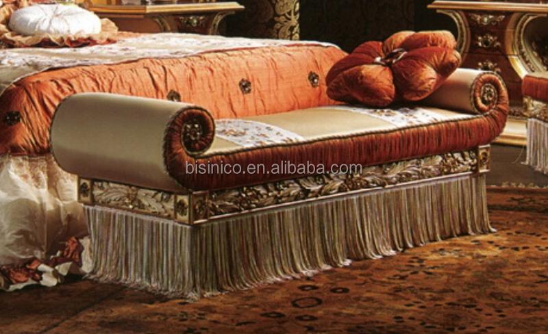 Italien-palast-couch-art-schlafzimmer-bank,Gold-samt-knopf-büscheliger Sitz  Und Bedruckte Stoffbespannung Gepolsterte Bank - Buy Couch Stil ...