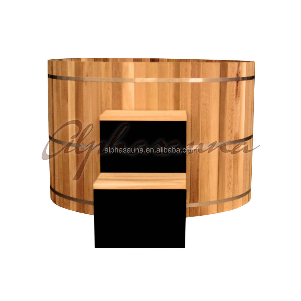 Garden Wooden Hot Tub, Dia.1800MM*Height 1000mm, Non Silicon No Leakage, Easy Installation Luxury Bath