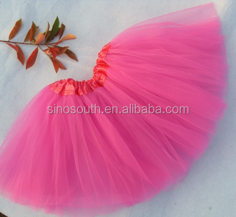 3layer 12inch cheap christmas santa girls tutu skirt with ribbion trim