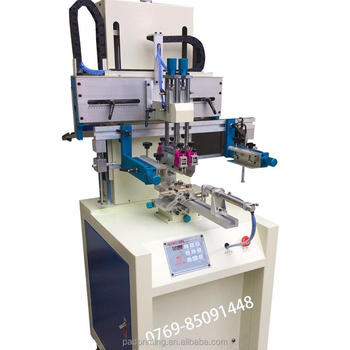 Dongguan hengjin plastic bottle printing machine for 1 color in one circle and silk screen printing HS-260R