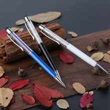 Promotional top quality crystal stylus ball pen,crystal pen