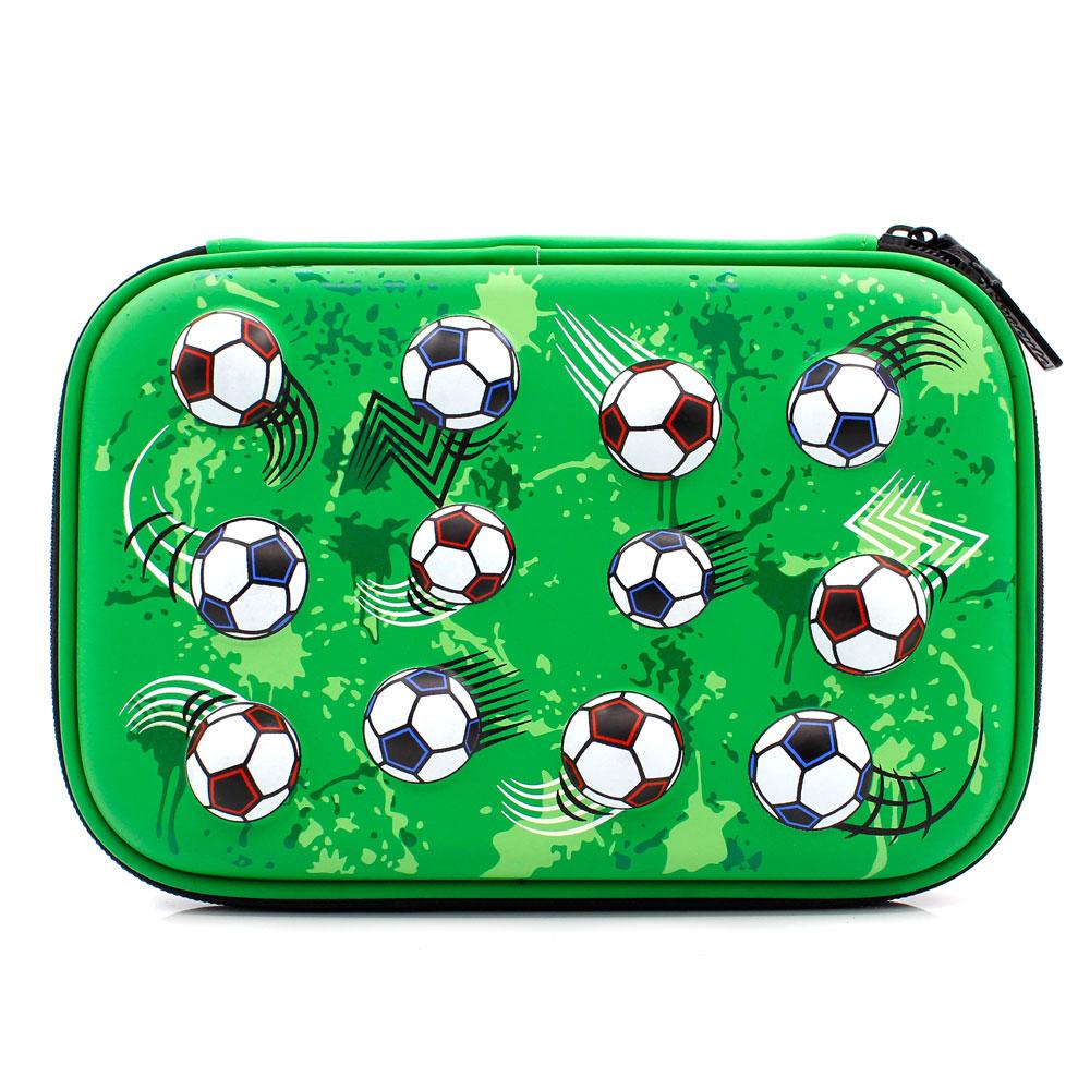 735c4865089 Hot Selling Unieke Voetbal Hardtop School Etui Met Compartiment Rits Voor  Kinderen Jongens
