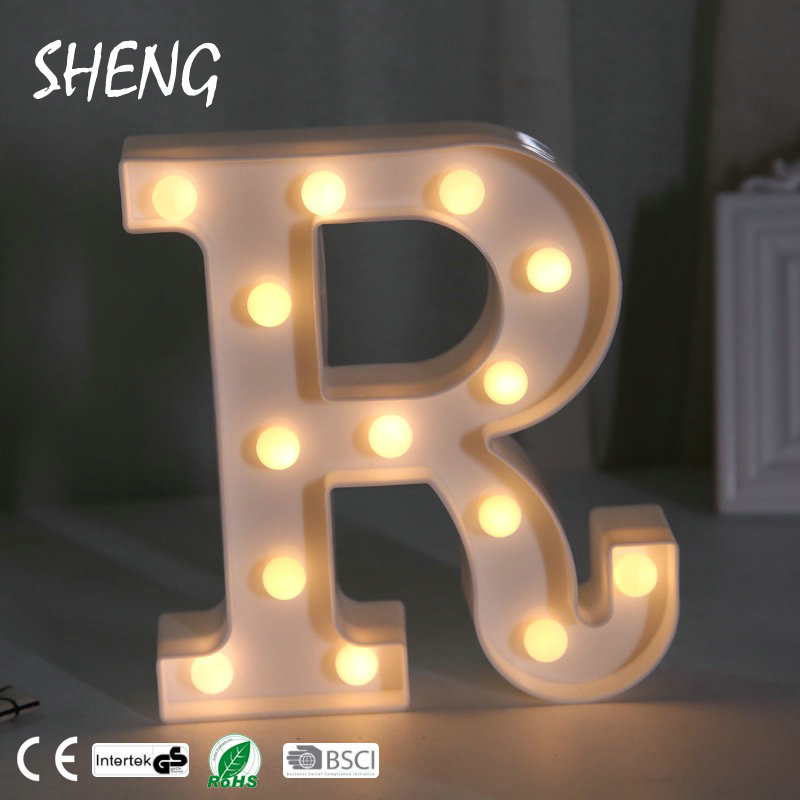 Marquee Sign Alphabet Lamp 26 Letters White Led Night Light For Birthday Wedding Party Bedroom