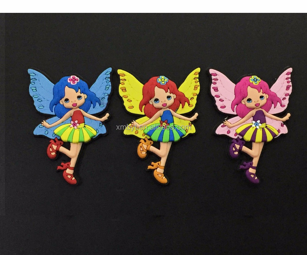 3d soft pvc angel princess fridge magnet wholesale lovely girls' magnets for sale