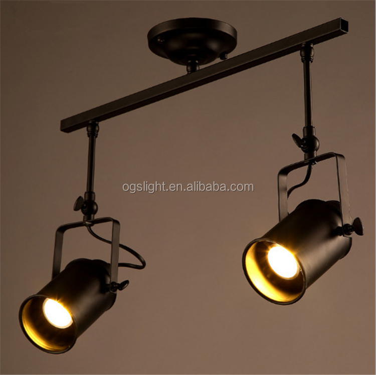 Professional Factory Manufacture Antique Vintage Industrial Style Double Head Iron Ceiling Pendant Light