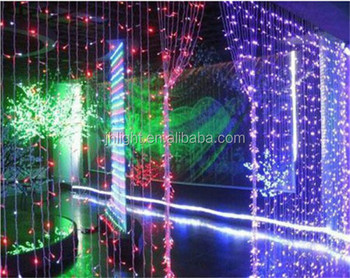 green christmas lights led curtain wall light for christmas decorations made in china
