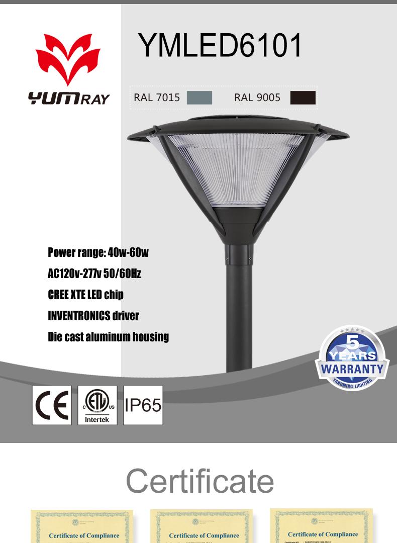 Pengiriman Cepat Mudah Perakitan IP65 Tahan Air Courtyard Lampu LED Taman Tiang Lampu PJU