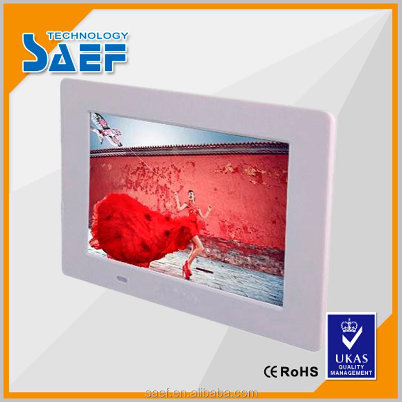 support video/audio/picture 7 inch 1024*600 digital tft lcd display with remote control can wall mount photo frame