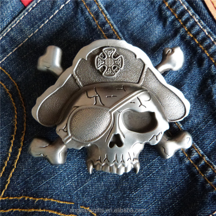 Hell belt <strong>buckle</strong> death skeleton pirates metal <strong>buckle</strong>