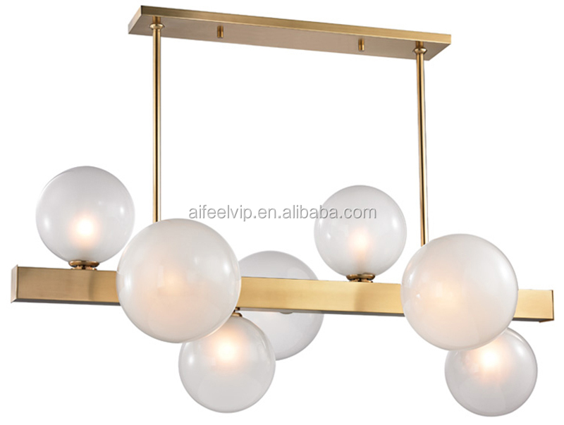 New style brass glass ball decoration led wall light