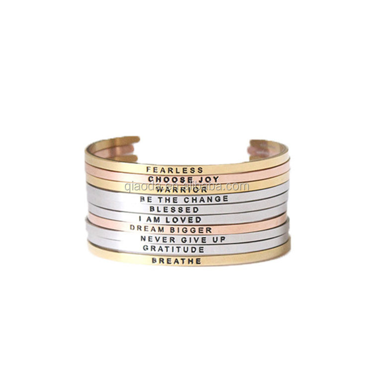 modern message bangles design,stainless steel expandable bangle