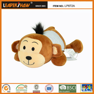 Lovely and cute plush monkey toys cushion/clean animal pillow for kids