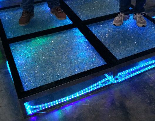 Portable Dance Floor With Lights : Color changing glass dance floor portable light up