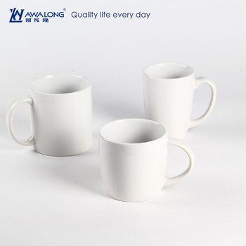 Custom Logo Plain White Porcelain Mug Unique Fine Bone China Coffee