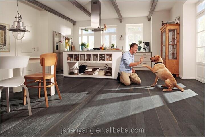 Houten Vloer Grijs : Goede kwaliteit eiken lagen ontworpen vlek grijs geborsteld
