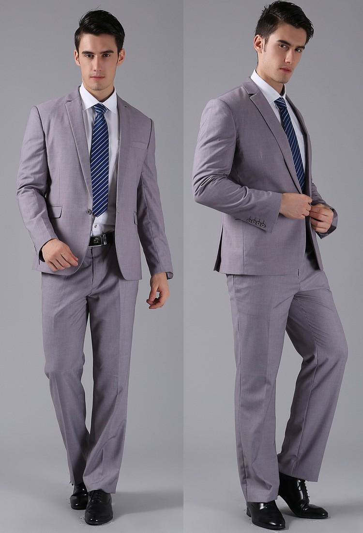 (Kurtki + Spodnie) 2016 Nowych Mężczyzna Garnitury Slim Fit Niestandardowe Garnitury Smokingi Marka Moda Bridegroon Biznes Suknia Ślubna Blazer H0285 54