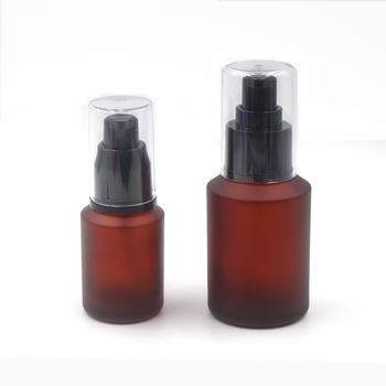 ded967c659f5 Cosmetic Bottle Packaging 30ml 60ml Empty Glass Lotion Bottle 2oz Frosted  Amber Glass Bottle With Black Plastic Pump - Buy Lotion Bottle,Amber Glass  ...
