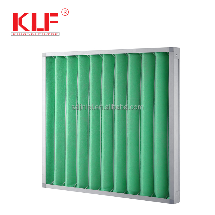 HVAC Pre pleated synthetic fiber panel air filter manufacturer