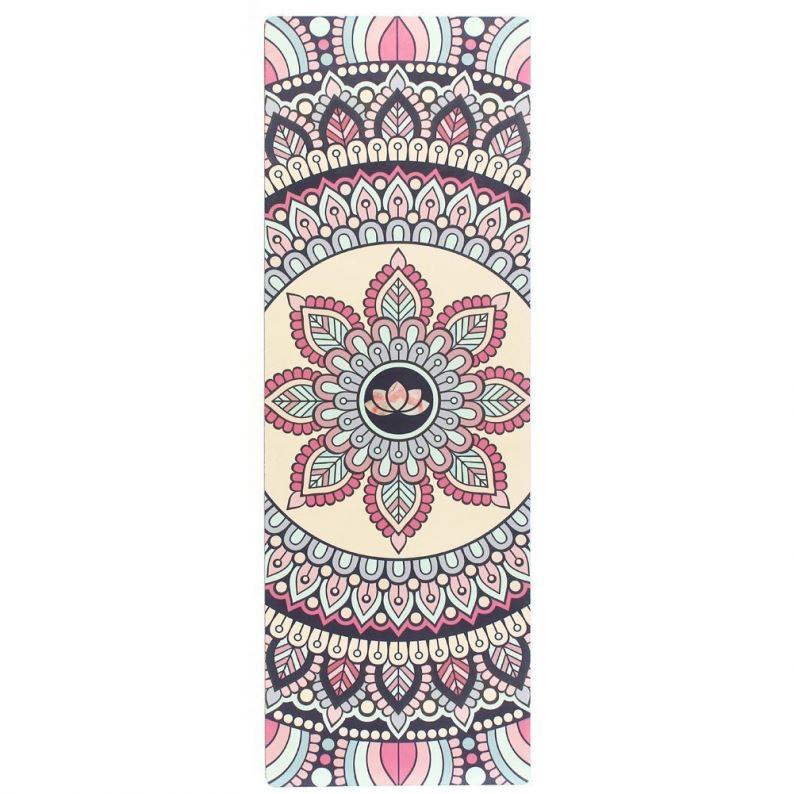 Пользовательские этикетки резиновые замшевый коврик для занятий йогой водонепроницаемый против скольжения