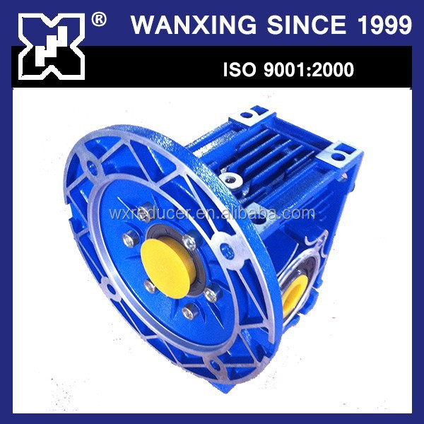 Cast Aluminum Run Well NMRV 025 -150 Worm Speed Reducer Gearbox 10:1 ratio 1HP motor reducer