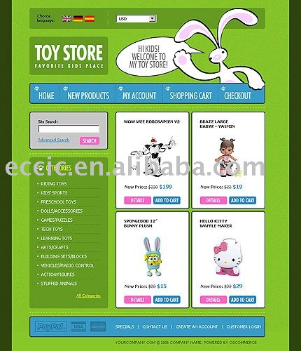 Toys Online Store Design,Toys E-commerce Website,Selling Toys ...